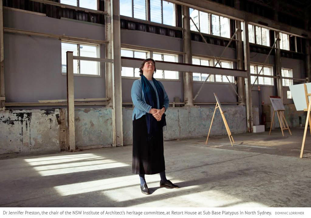 Dr Jennifer Preston, the chair of the NSW Institute of Architect's heritage committee